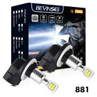 881 LED Headlight Bulbs 80W 1500LM For Polaris Ranger RZR 570 Sportsman XP ACE