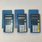 lot of 3 Texas Instruments math explorer solar calculators Pre-Owned tested-work