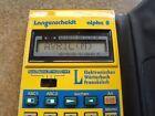 Vintage Langenscheidt alpha 8 Pocket Calculator Dictionary Germany France