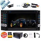 "Double 2 Din Stereo Car Radio 6.2"" Touchscreen DVD Player GPS Navi Wireless Cam"