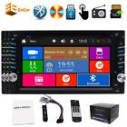 """Double 2 Din 6.2"""" Digital Touchscreen Stereo DVD Player Car Radio Bluetooth SWC"""