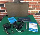 Aviation headphones/head set Telex MRB 1800 / PT-200 w/ extras in nice case