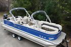 Dealer Demo-27 Cascade Platinum RL Tahoe Pontoon boat with 350 Hp Merc-trailer