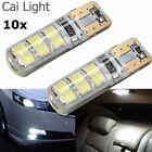 10x T10 194 W5W COB 2835 SMD 12LED Car Canbus Super Bright License Light Bulb 2W