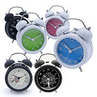"3 inch 3"" Multi Color Bell BedSide Nightlight Metal Double Loud Alarm Clock LOT"