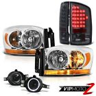 "2006 Ram 1500 Chrome Headlights Smokey Foglamps Tail Lamps LED SMD ""Brightest"""