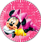 Disney Minnie Mouse Frameless Borderless Wall Clock For Gifts or Decor E123