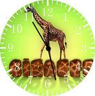 Cute Giraffe Frameless Borderless Wall Clock For Gifts or Home Decor E157