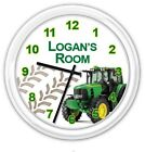 Tractor Personalized SILENT Wall Clock  - Farm Bedroom Child Boy JD - GREAT GIFT
