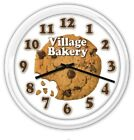 Cookie Bakery Personalized SILENT Wall Clock - Baker Kitchen Chocolate - GIFT