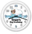 Dog Groomer Personalized SILENT Wall Clock - Pet Grooming Bath Shampoo - GIFT