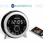 Digital Alarm Clock Radio LED Bluetooth FM USB Charger Night Light Bedroom