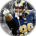 Aaron Donald Frameless Borderless Wall Clock For Gifts or Home Decor E463