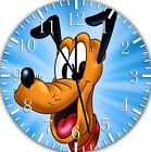 Disney Pluto Frameless Borderless Wall Clock Nice For Gifts or Decor E250