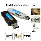 32GB Protable hidden Mini USB 2.0 U-Disk Digital Audio Voice Recorder spy lot