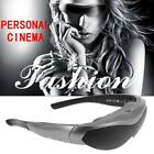 """Android4.4 WiFi Smart Video Glasses Bluetooth Intelligent Media Player 80"""" Y5A6"""