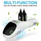 Car Air Purifier, YONTEX Ionic Air Cleaner Ionizer with 2 Smart USB Port Smart C