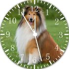 Rough Collie Dog Frameless Borderless Wall Clock Nice For Gifts or Decor F60