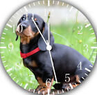 Cute Dachshund Frameless Borderless Wall Clock Nice For Gifts or Decor F71
