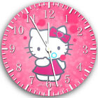 Pink Hello Kitty Frameless Borderless Wall Clock Nice For Gifts or Decor X20