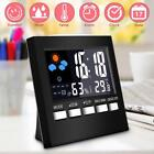 1pc Digital LCD Temperature Humidity Meter Alarm Clock Home Thermometer CA