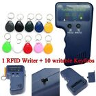 Portable Handheld Card Writer/Copier Duplicator for 125KHz RFID Cards W/10 Tags