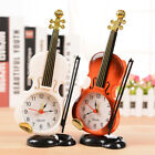 Fashion Bedroom Desk Glamorous Home Stand Clock Gift Violin Alarm Clock Decor 1X