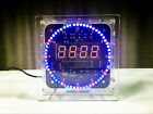 DIY DS1302 ROTATION LED ELECTRONIC CLOCK KIT 51 SCM LEARNING BOARD+BOX