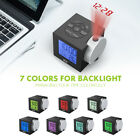 Projection Digital Weather Snooze Alarm Clock  Display w/ 7 color Backlight