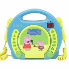 PEPPA PIG CD PLAYER WITH MICROPHONES & HANDLE KIDS BOYS GIRLS BY LEXIBOOK