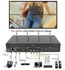 4 Channel TV Video Wall Controller 2x2 1x3 1x2 HDMI AV VGA USB Video Processor