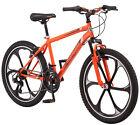 """24"""" Boys Mag Wheel Bike Bicycle 21-speed Steel Mountain Frame Shimano Orange"""