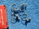 "Vintage Original Wire Band Screw 1"" Hose Clamps NOS Four Made in Chicago"