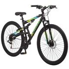 "MEN'S MOUNTAIN BIKE Black Aluminum Frame Bicycle 29"" Full Suspension 21 Speed"