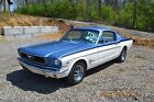 1966 Ford Mustang FASTBACK 289 4V AUTO 1966 FASTBACK 289 AUTO STRAIGHT AND SOLID SHARP SILVER BLUE AND WIMBLEDON WHITE