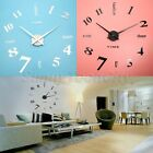 3D DIY Wall Clock Mirror Sticker Home Office Room Removable Decal Modern Decor
