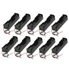 10PCS Plastic Battery Case Storage Box Holders For 18650 Batteries 3.7V & Wire