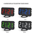 Modern Digital LED Alarm Clock Make-up Mirror Table Desktop Decor Dual USB Port