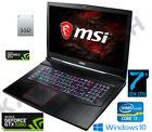 """MSI GE73VR 7RE Raider 17.3"""" FHD Intel Core i7-7700HQ 8GB 1TB+128GB GTX 1060 6GB"""
