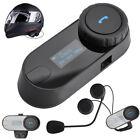 Bluetooth Motorbike Helmet 800M Intercom Voice Interphone Motorcycle Headsets