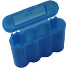 BLUE AA AAA BATTERY BATTERY PLASTIC STORAGE CASE HOLDER BOX USA SHIP