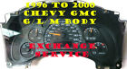 2002 TO 2007 CHEVY EXPRESS VAN CLUSTER SOFTWARE & ODOMETER CALOBRATION SERVICE