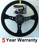 SNAP OFF QUICK RELEASE CORSICA SUEDE STEERING WHEEL AND BOSS FIT ALL NISSAN