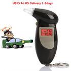 Traffic police LCD Alcohol Breath Detector AnalyzerTester Breathalyzer Keychain