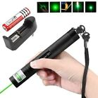 10Miles 532nm 201 Green Laser Pointer Lazer Pen Visible Beam Light+16340+Charger
