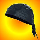 SOLID Leather Skull Cap--Biker's/Motorcycle Skull Cap
