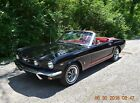 1966 Ford Mustang GT A-CODE 289 4V AUTO PS CONVERTIBLE 1966 MUSTANG CONVERTIBLE GT A-CODE AUTO BEAUTIFUL FACTORY RAVEN BLACK AND RED