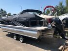 2485 Tmltz Quad Lounge Cruise tritoon pontoon boat with 150 and trailer