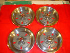 """70 71 FORD TORINO GT 15"""" MAG WHEEL COVER HUBCAPS POLISHED LOOKS NOS 429 4 SPEED"""