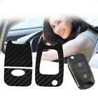 Car Auto Key Protective Sticker Carbon Fiber Car Decoration for Hyundai Rena BE